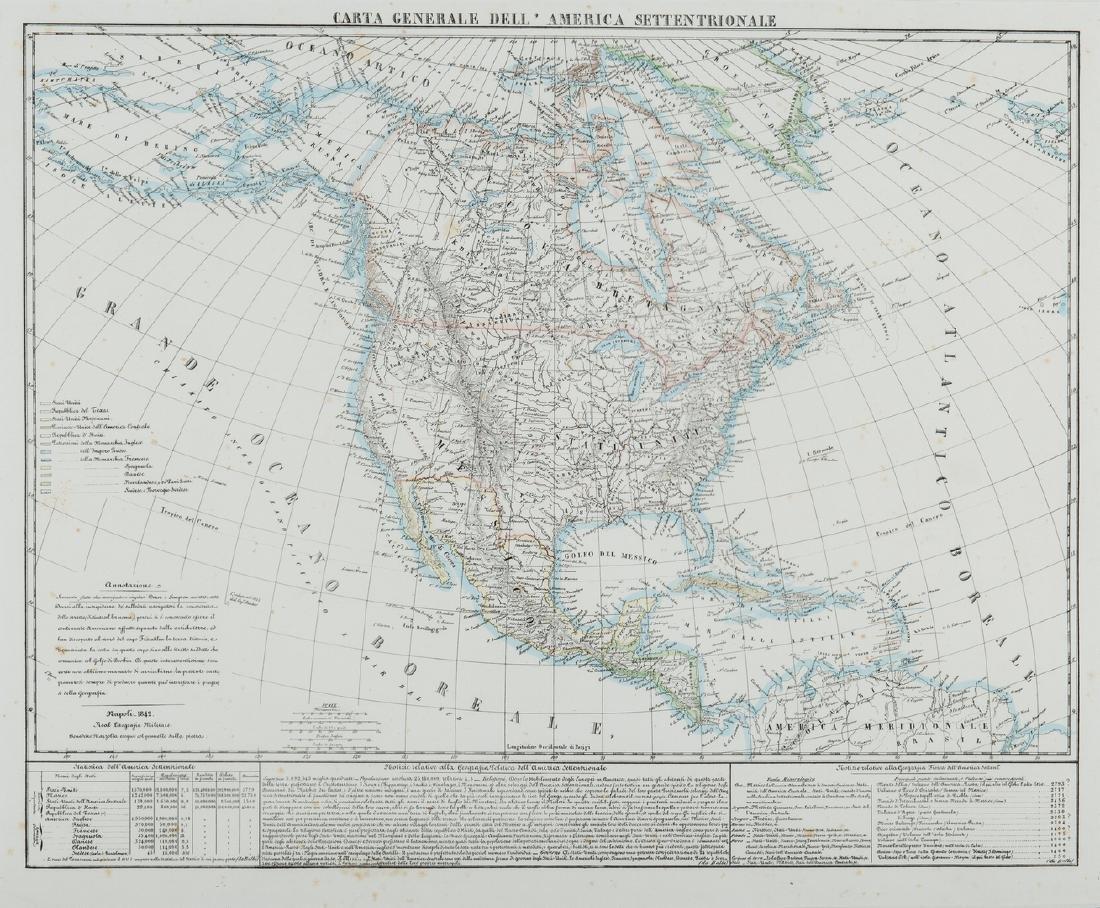 3 Maps of America, incl. Bowen, Marzolla - 4