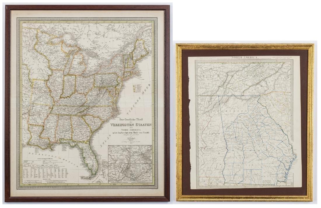 2 North America Maps, incl. Weiland, Walker
