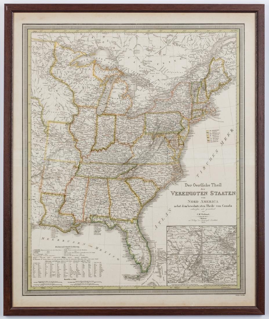 2 North America Maps, incl. Weiland, Walker - 3