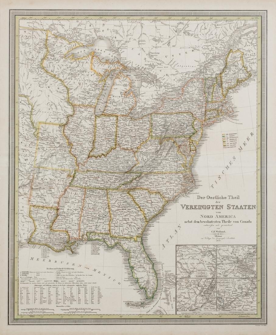 2 North America Maps, incl. Weiland, Walker - 9