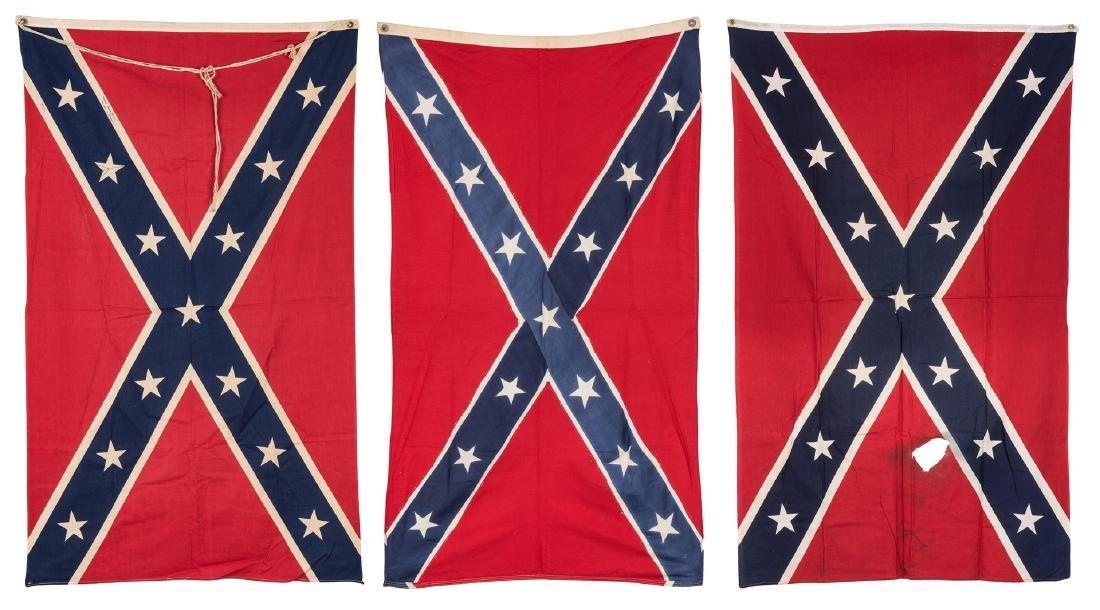 3 Mid 20th Cent. Confederate Reunion Flags