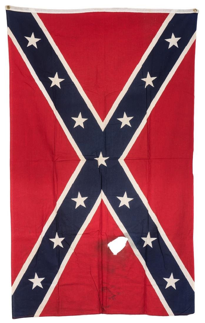 3 Mid 20th Cent. Confederate Reunion Flags - 4