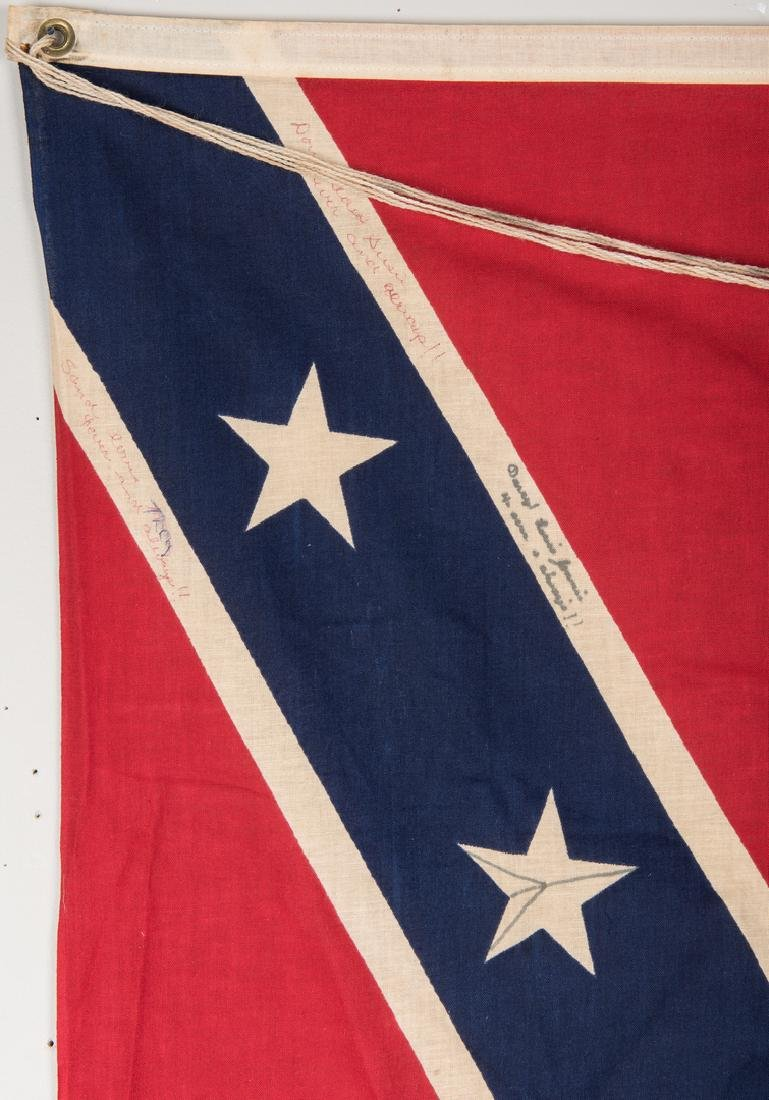 3 Mid 20th Cent. Confederate Reunion Flags - 7
