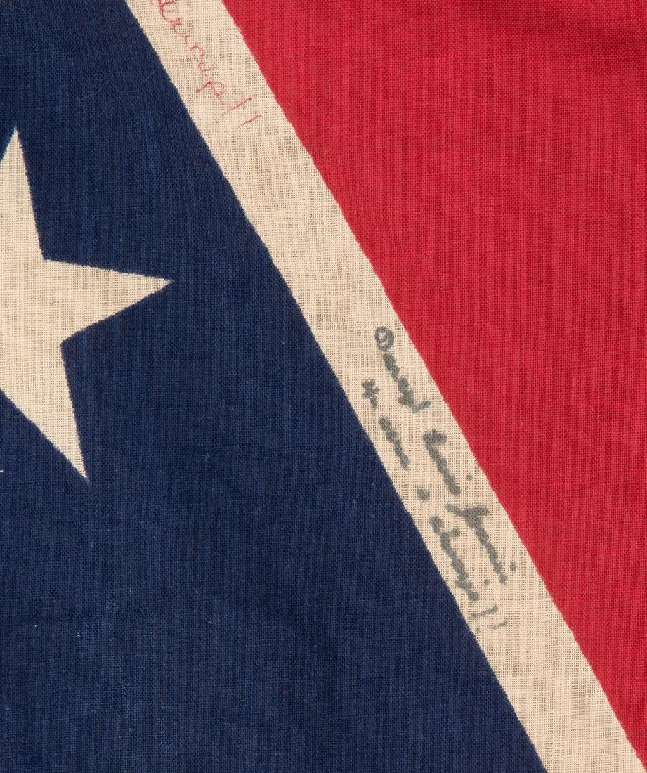 3 Mid 20th Cent. Confederate Reunion Flags - 8