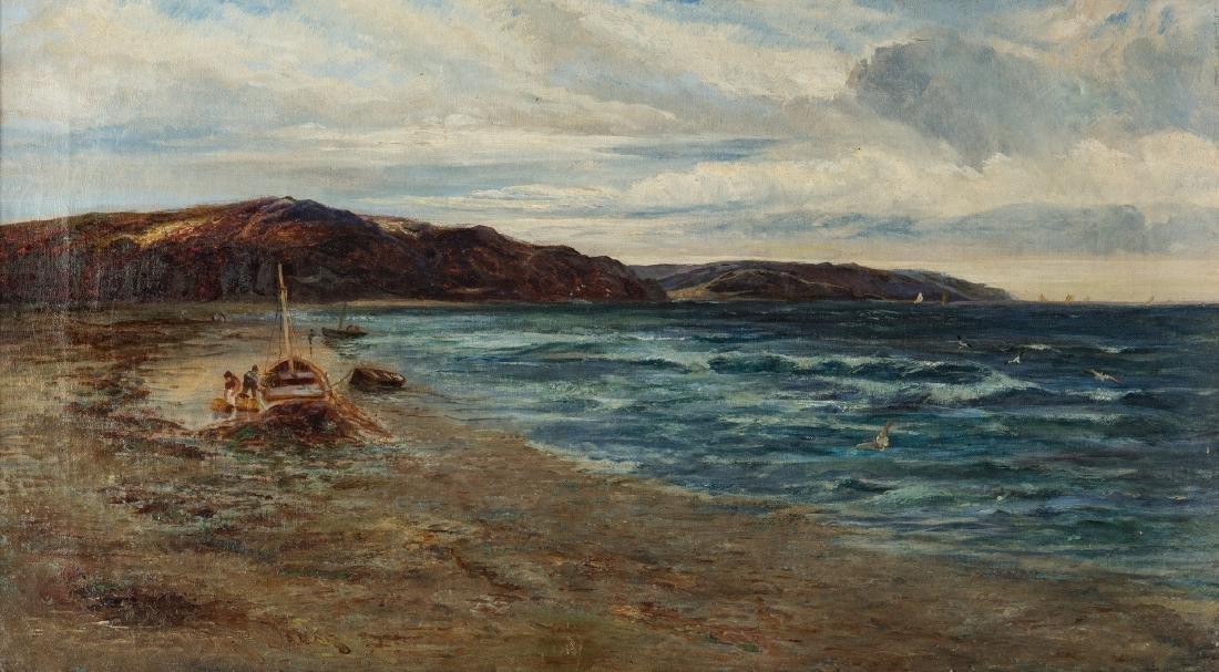 Walter Danks, O/C, Genre Scene of Fishermen - 2