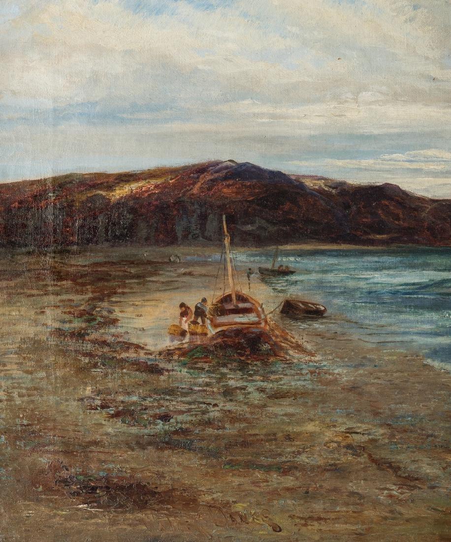 Walter Danks, O/C, Genre Scene of Fishermen - 3