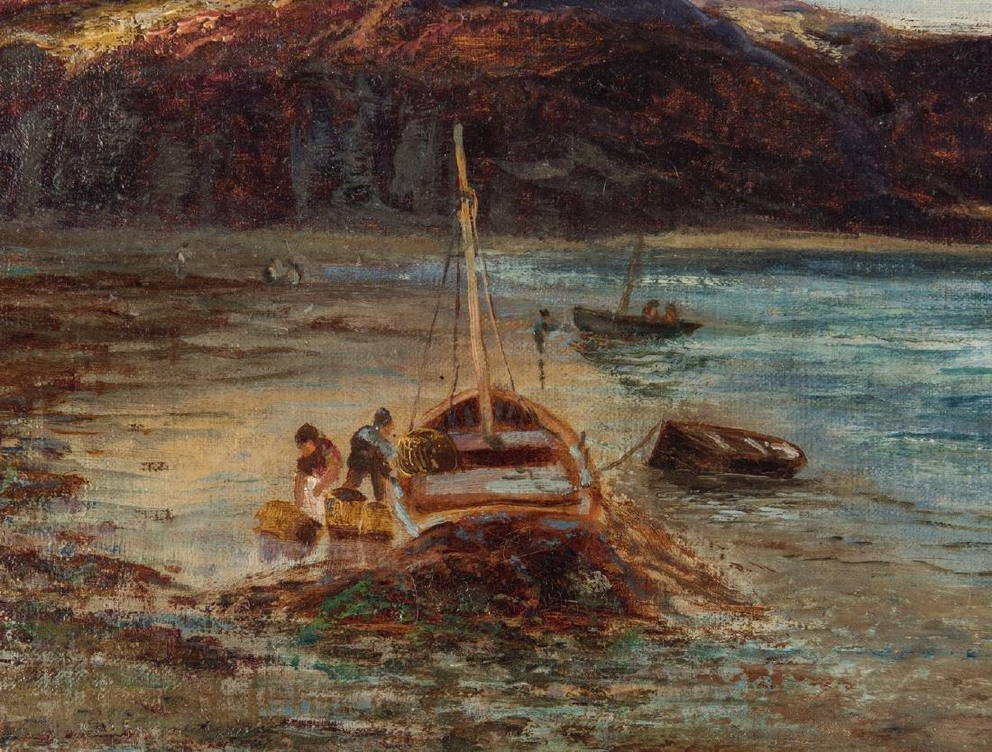 Walter Danks, O/C, Genre Scene of Fishermen - 7