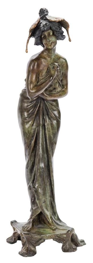 Art Nouveau Bronze, after Lucien Alliot