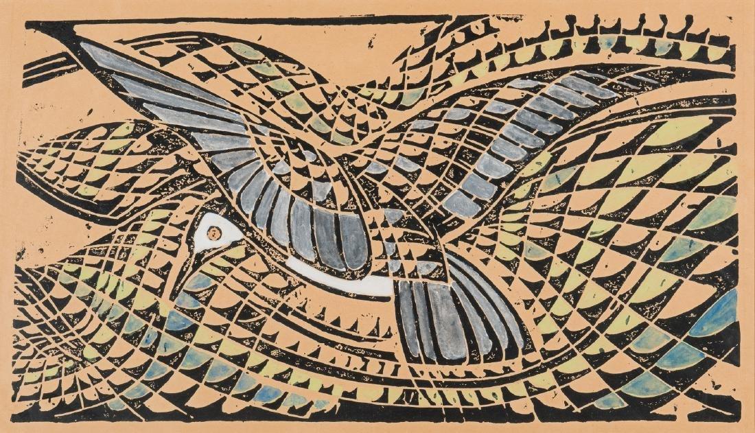 "After Walter Inglis Anderson Linocut, ""Least Tern"""