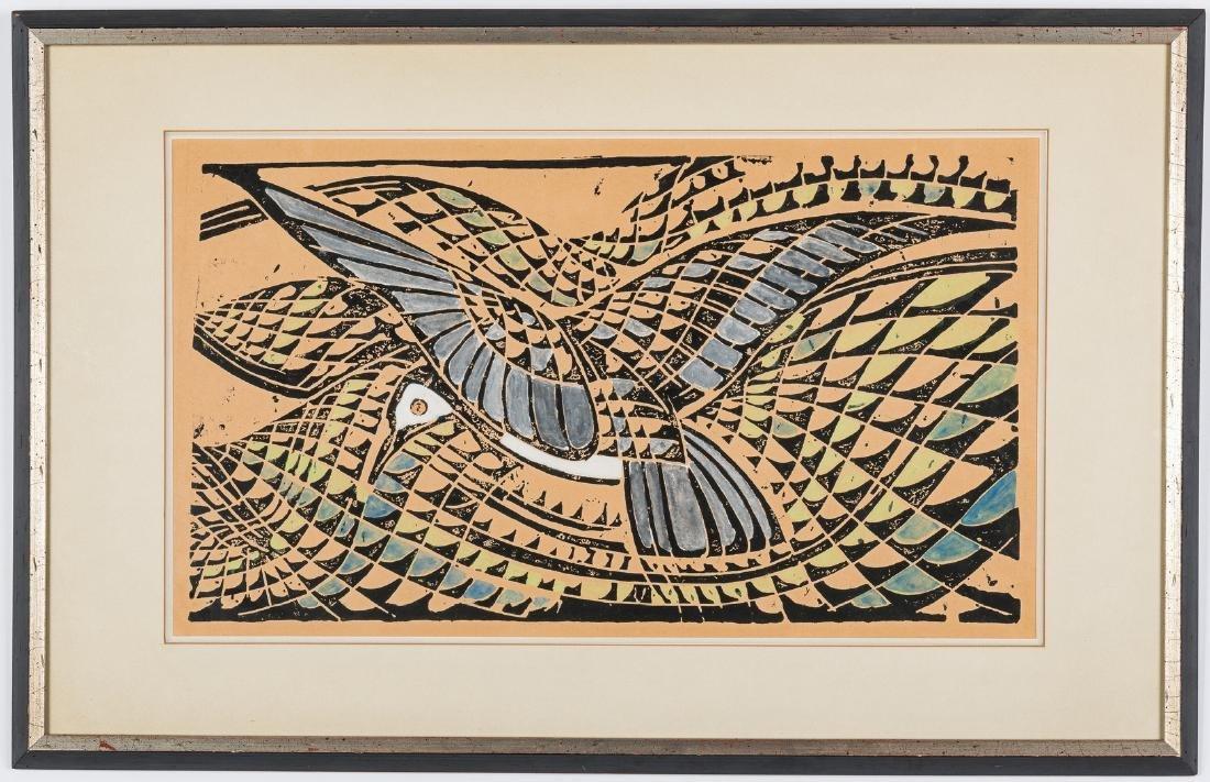 "After Walter Inglis Anderson Linocut, ""Least Tern"" - 2"