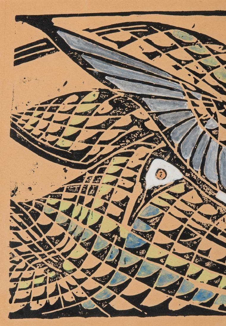 "After Walter Inglis Anderson Linocut, ""Least Tern"" - 3"
