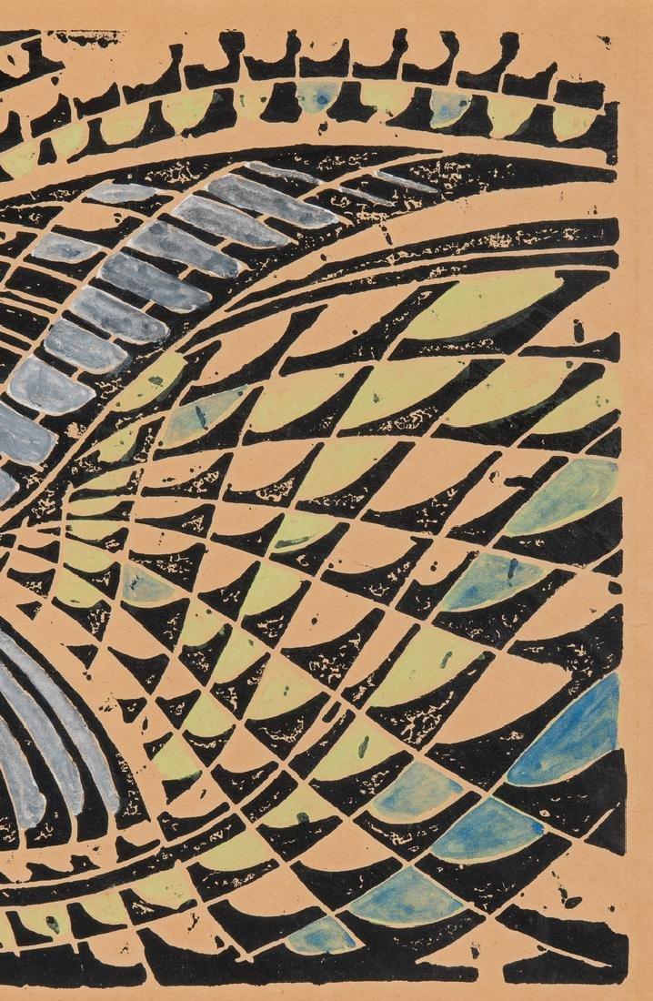 "After Walter Inglis Anderson Linocut, ""Least Tern"" - 5"