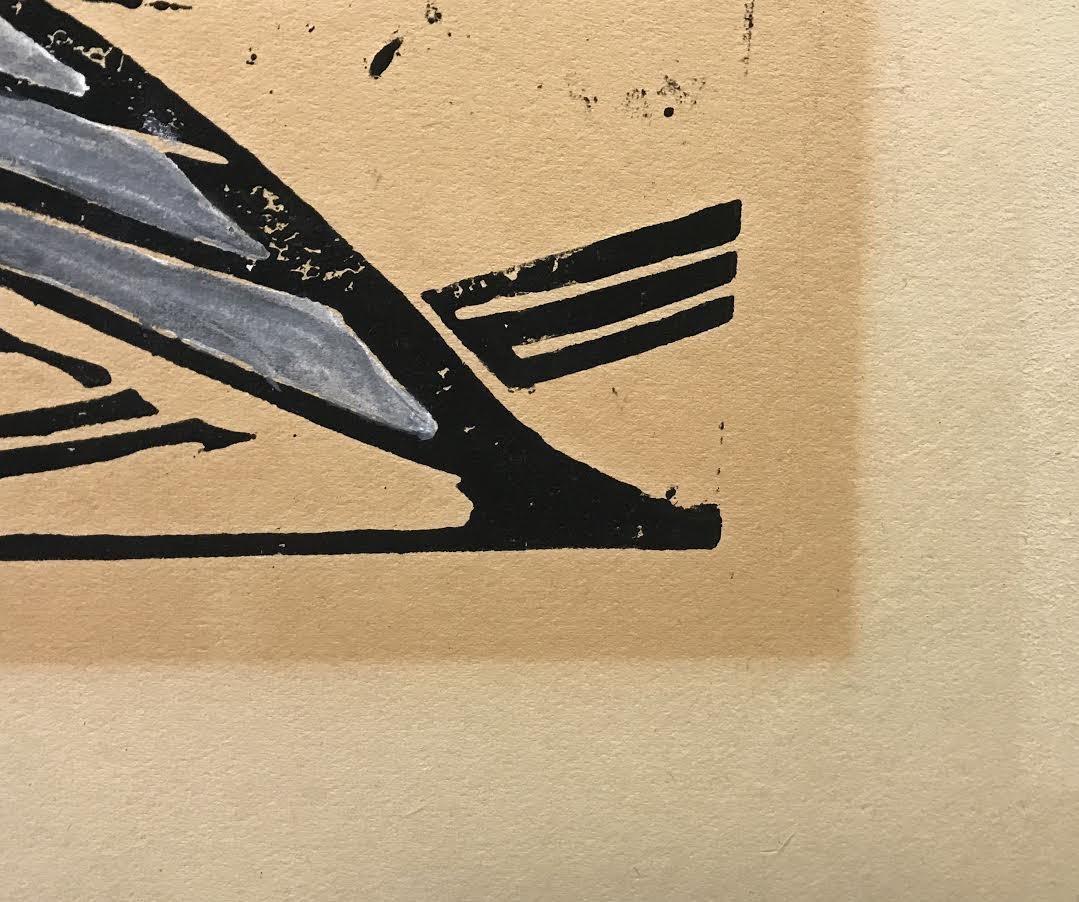 "After Walter Inglis Anderson Linocut, ""Least Tern"" - 9"