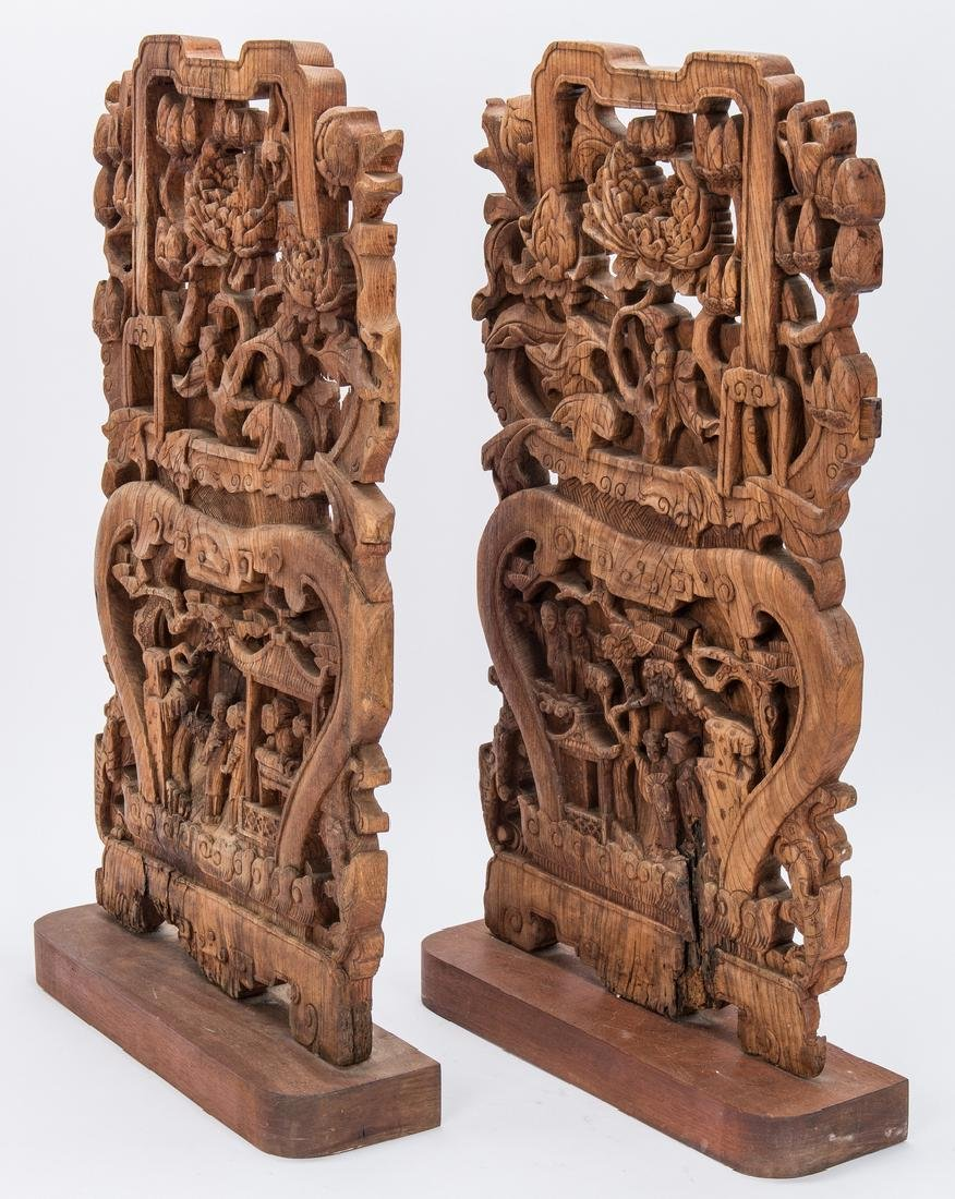 5 Asian Items, Bronze Religious Figurals, Chinese Wood - 3