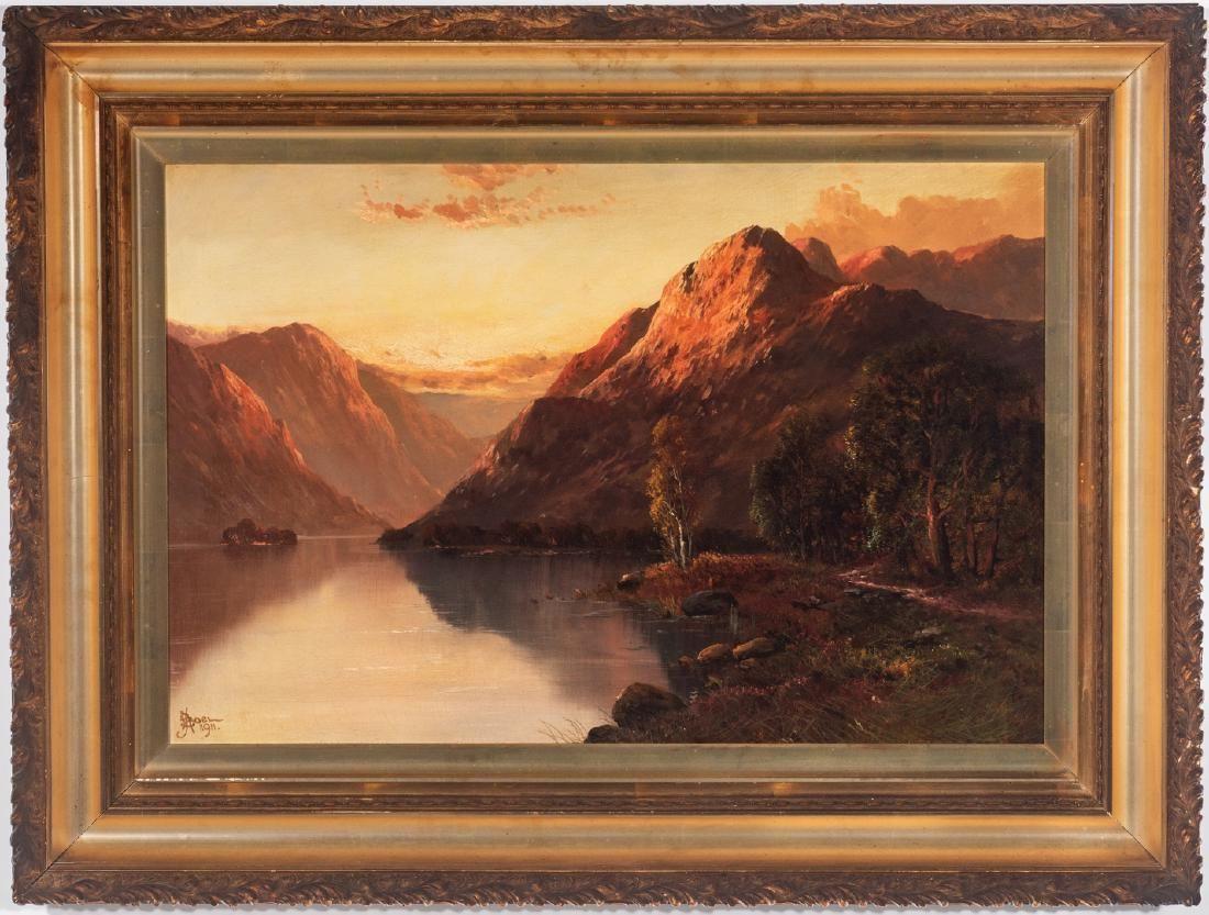 John Bates Noel O/C, Lakeside Mountain Landscape