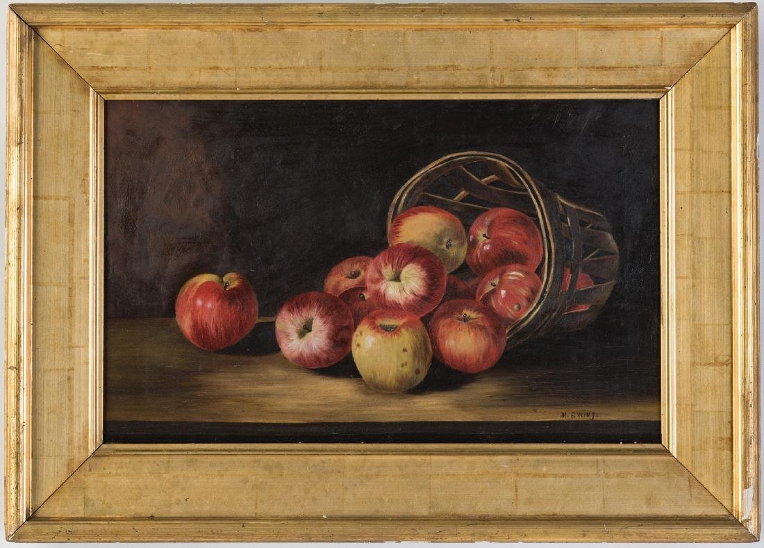 Still Life with Apples O/C, signed Ewing