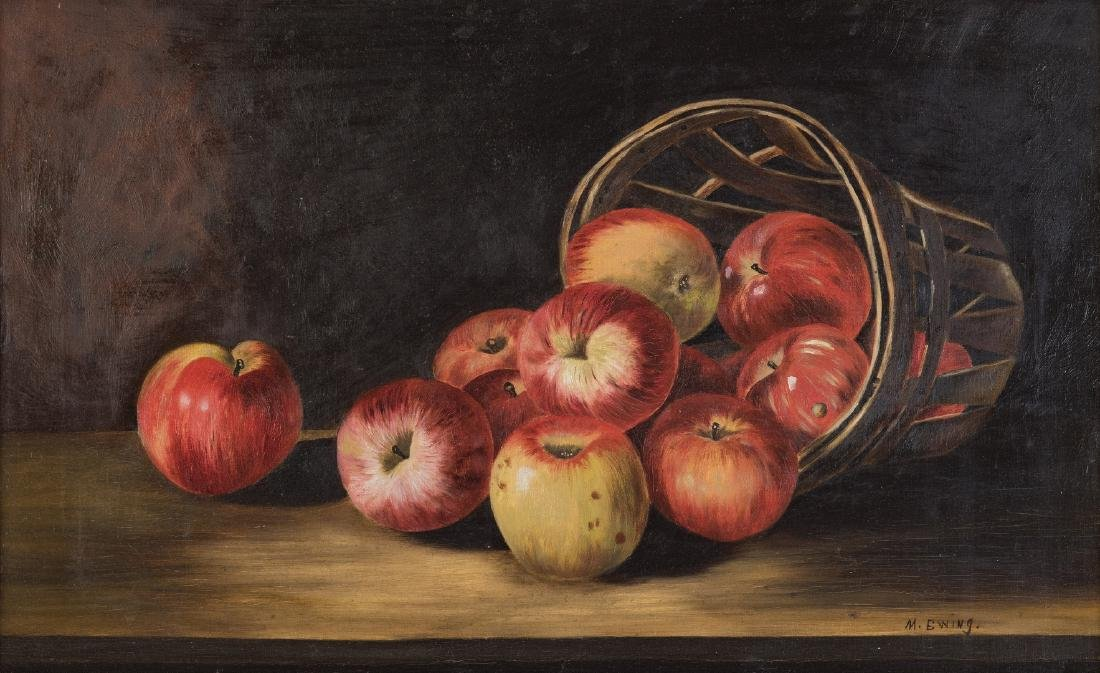 Still Life with Apples O/C, signed Ewing - 2