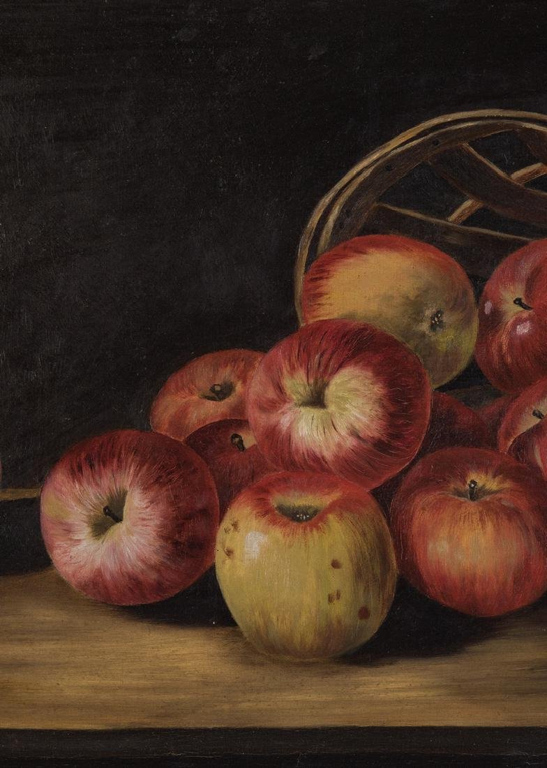 Still Life with Apples O/C, signed Ewing - 4