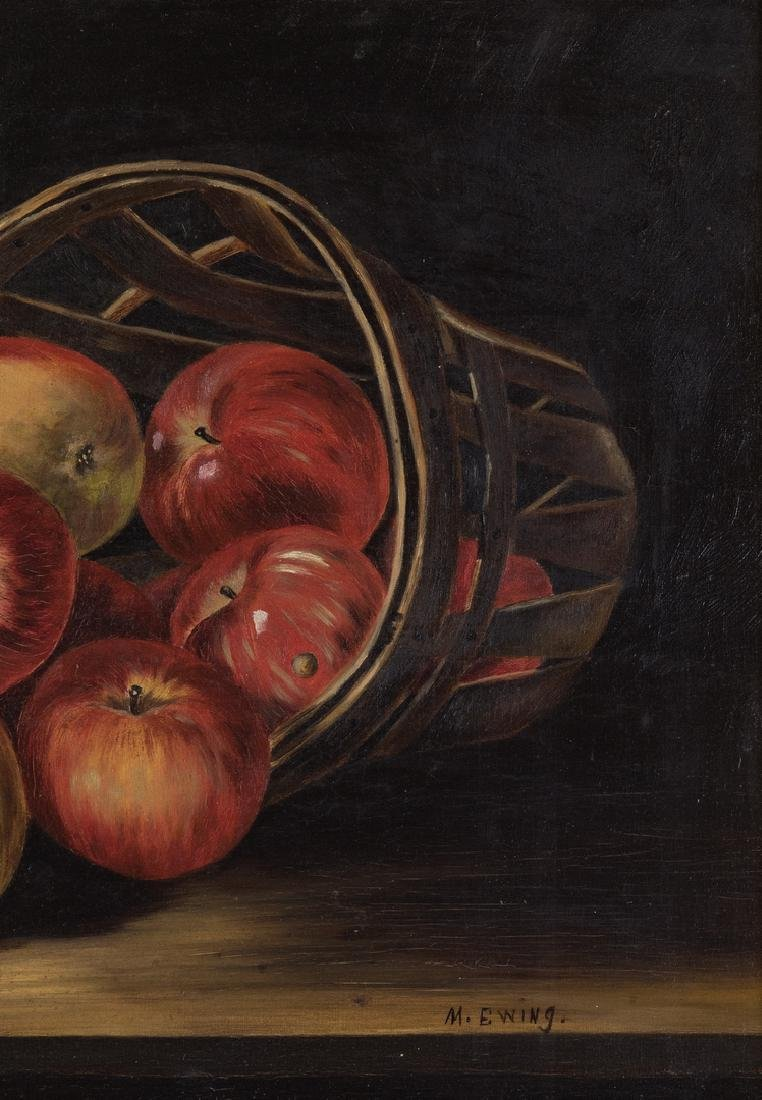 Still Life with Apples O/C, signed Ewing - 5