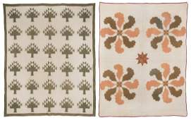 2 Southern, poss. East TN Quilts, Mariner's Compass &