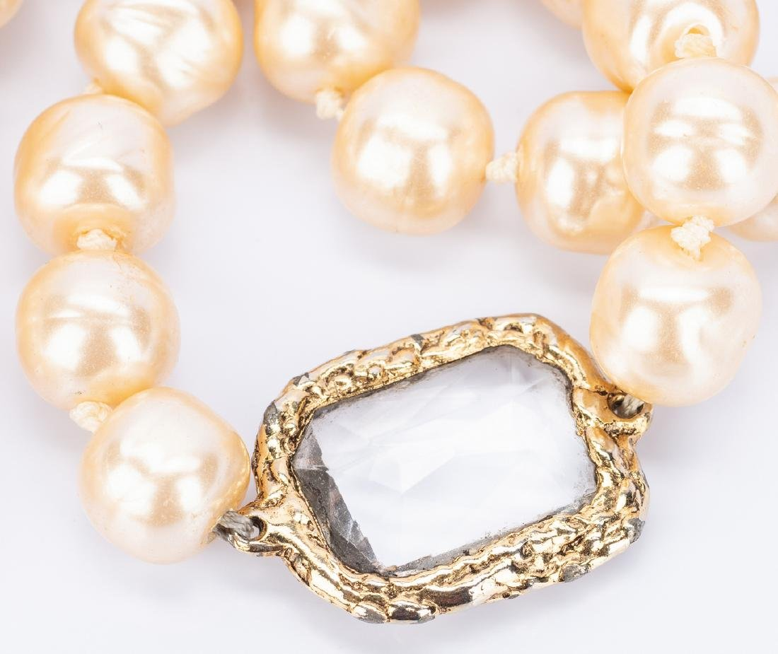 Chanel Necklace, Pearls with Chiclets - 10
