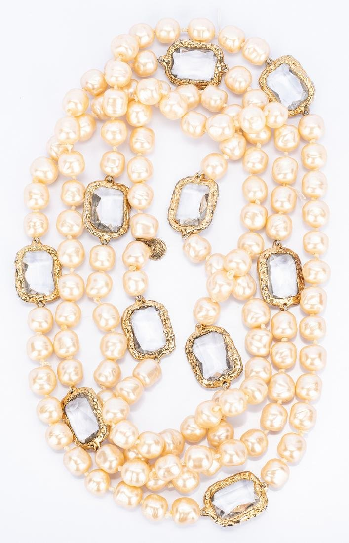 Chanel Necklace, Pearls with Chiclets