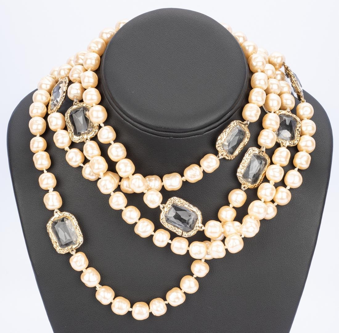 Chanel Necklace, Pearls with Chiclets - 2