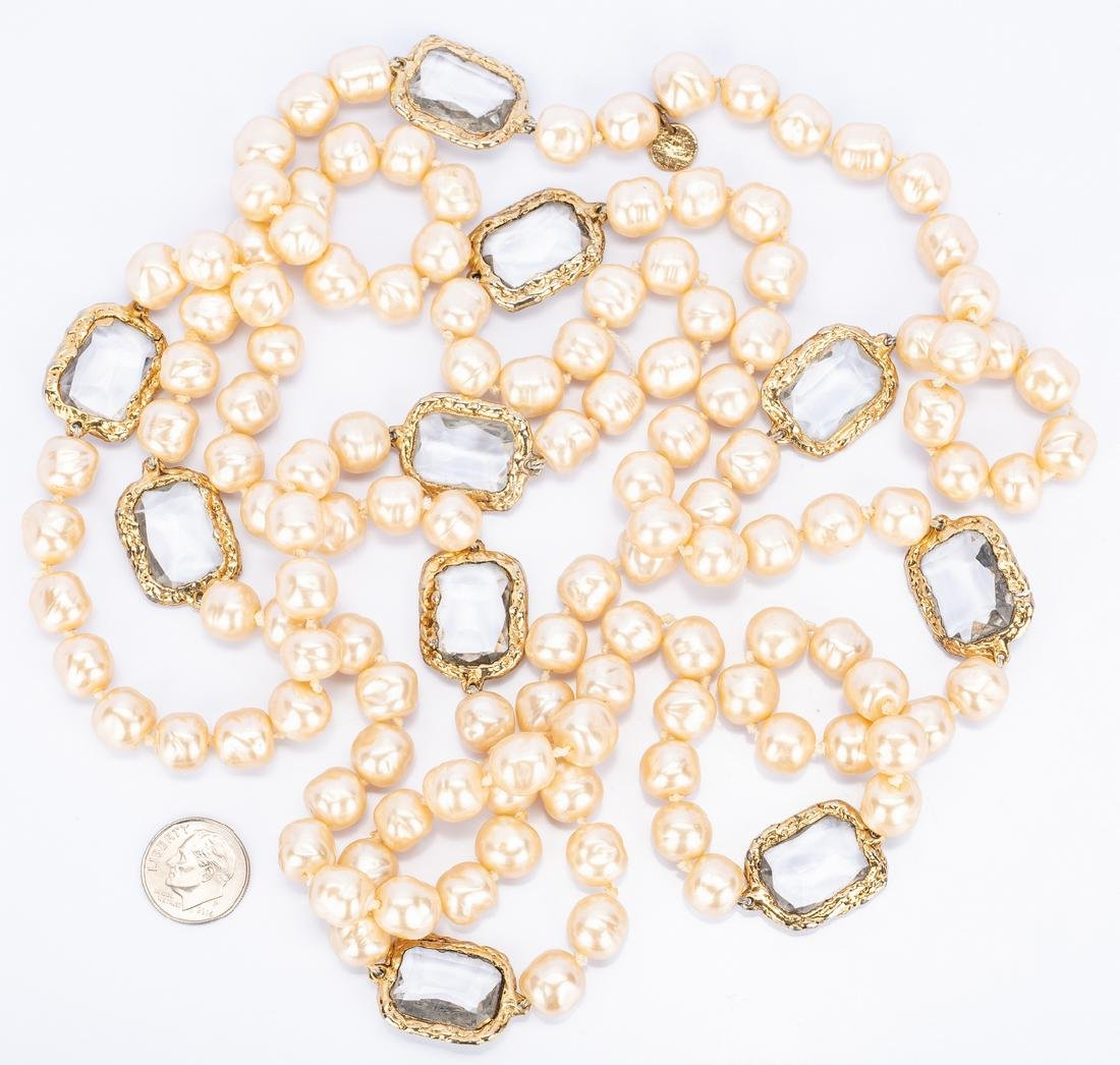 Chanel Necklace, Pearls with Chiclets - 3