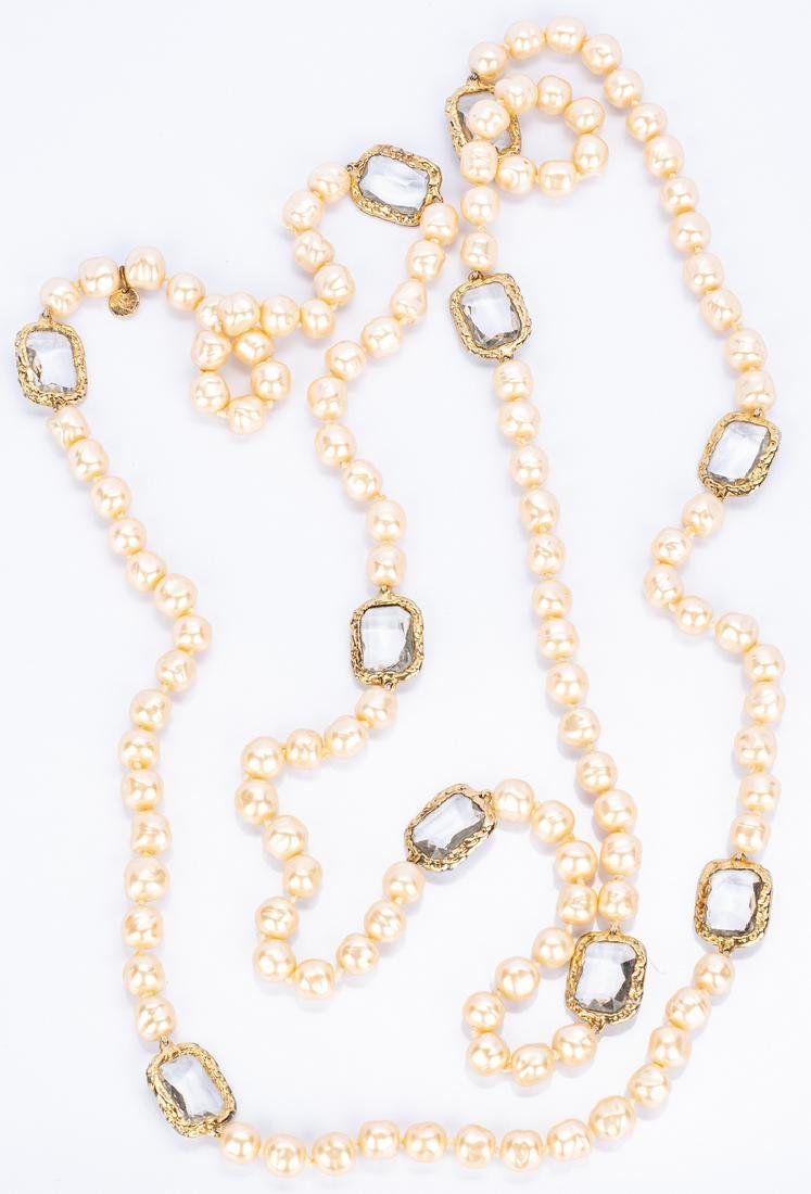 Chanel Necklace, Pearls with Chiclets - 4