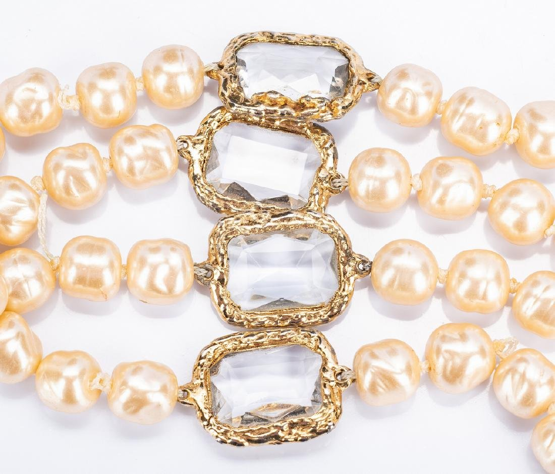 Chanel Necklace, Pearls with Chiclets - 6