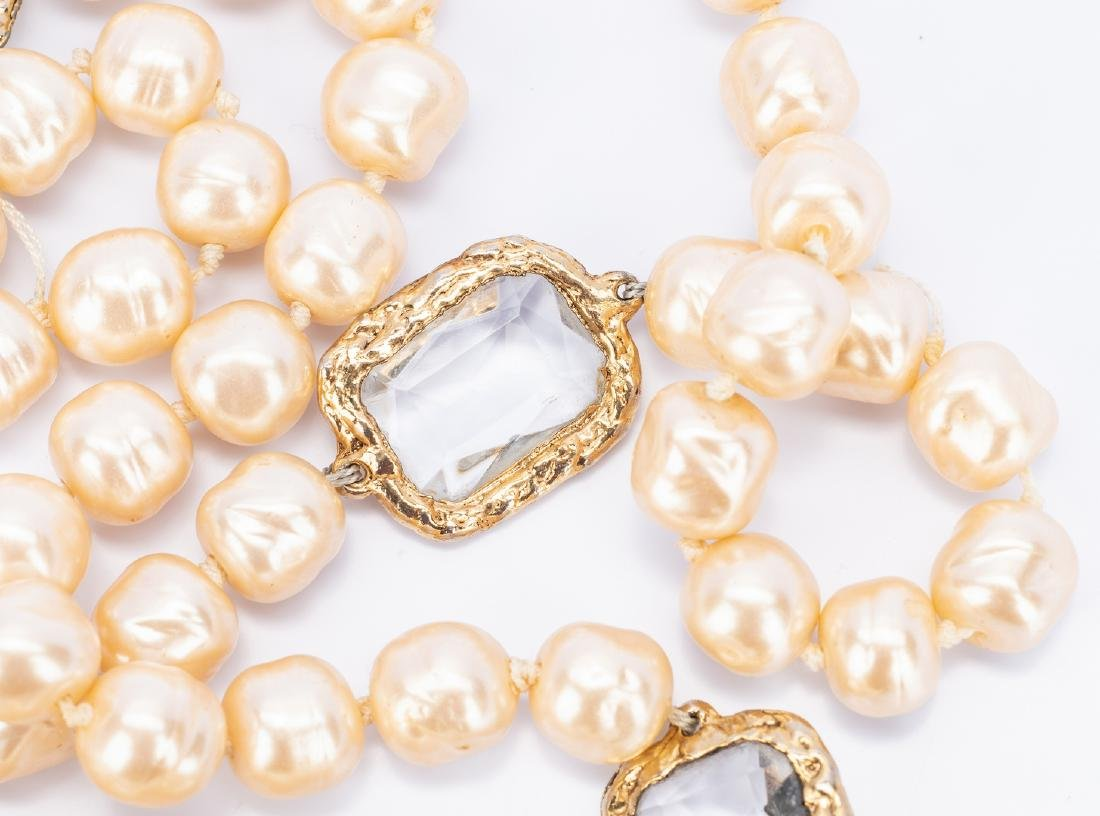 Chanel Necklace, Pearls with Chiclets - 7