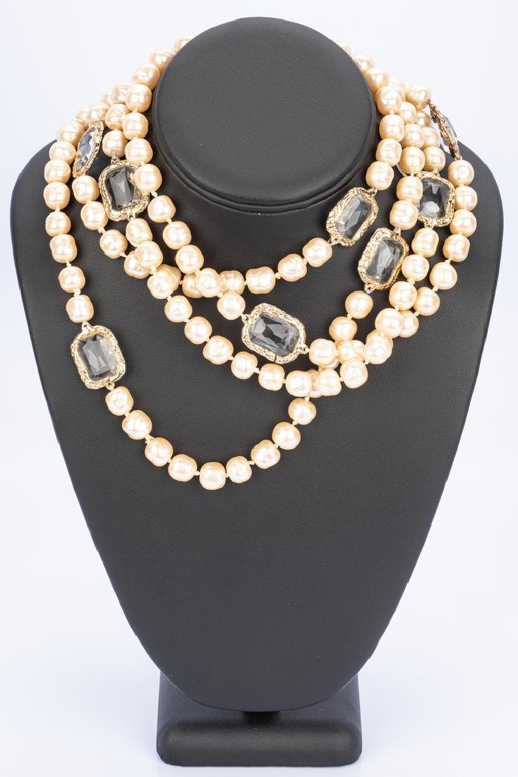 Chanel Necklace, Pearls with Chiclets - 8