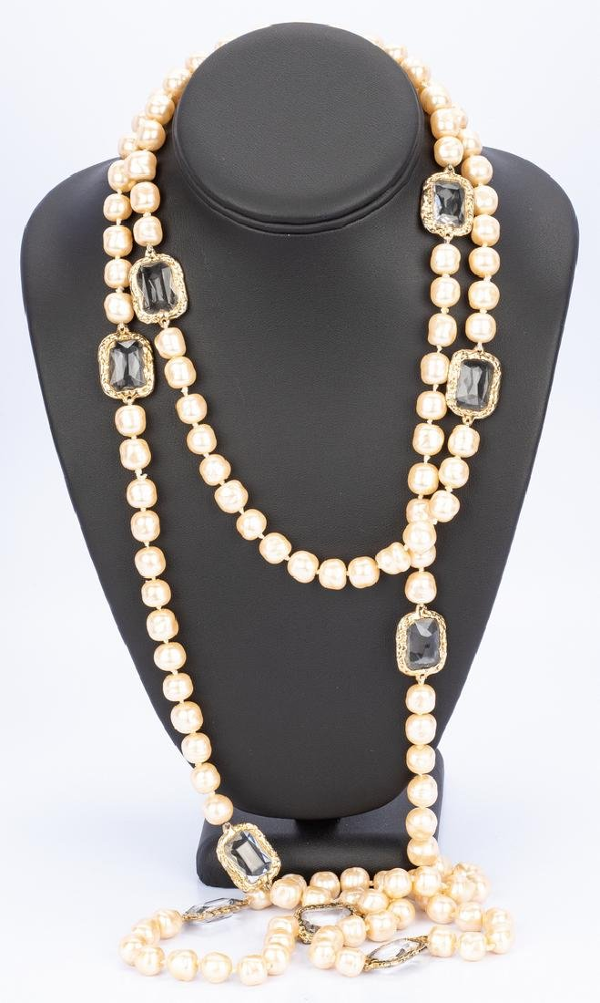 Chanel Necklace, Pearls with Chiclets - 9