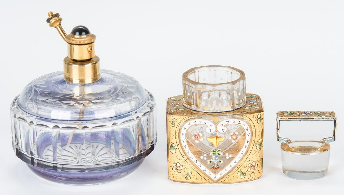 20 Atomizers and Bohemian Perfume Bottles - 8