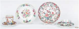 6 Chinese Famille Rose Export Porcelain Items