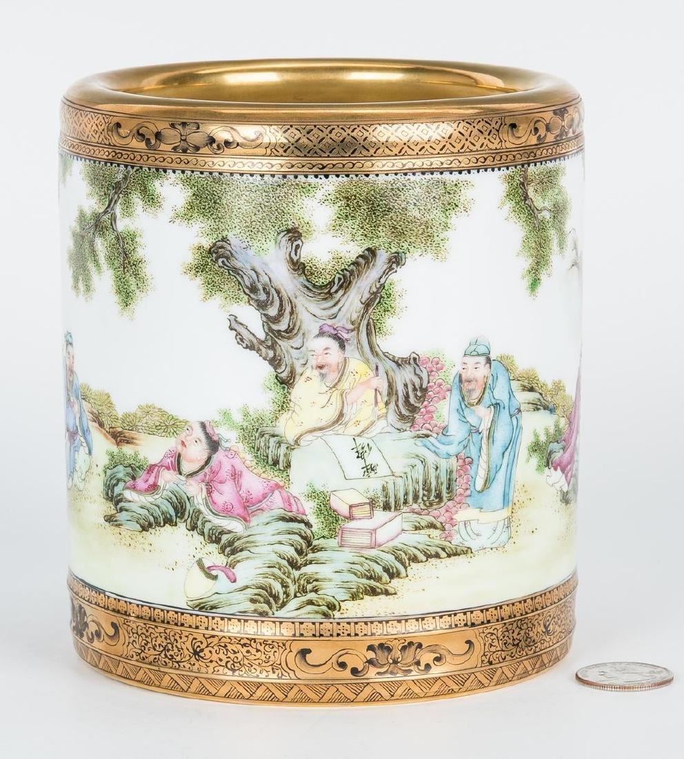 Chinese Republic Porcelain Brush Pot
