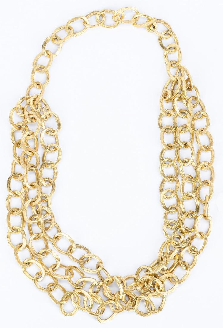 18k Gold Chain Necklace Set, 240 grams