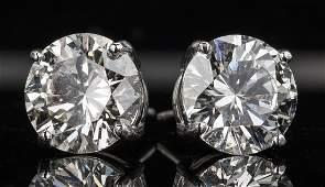 Diamond Stud Earrings, 8.34 ct t.w. GIA
