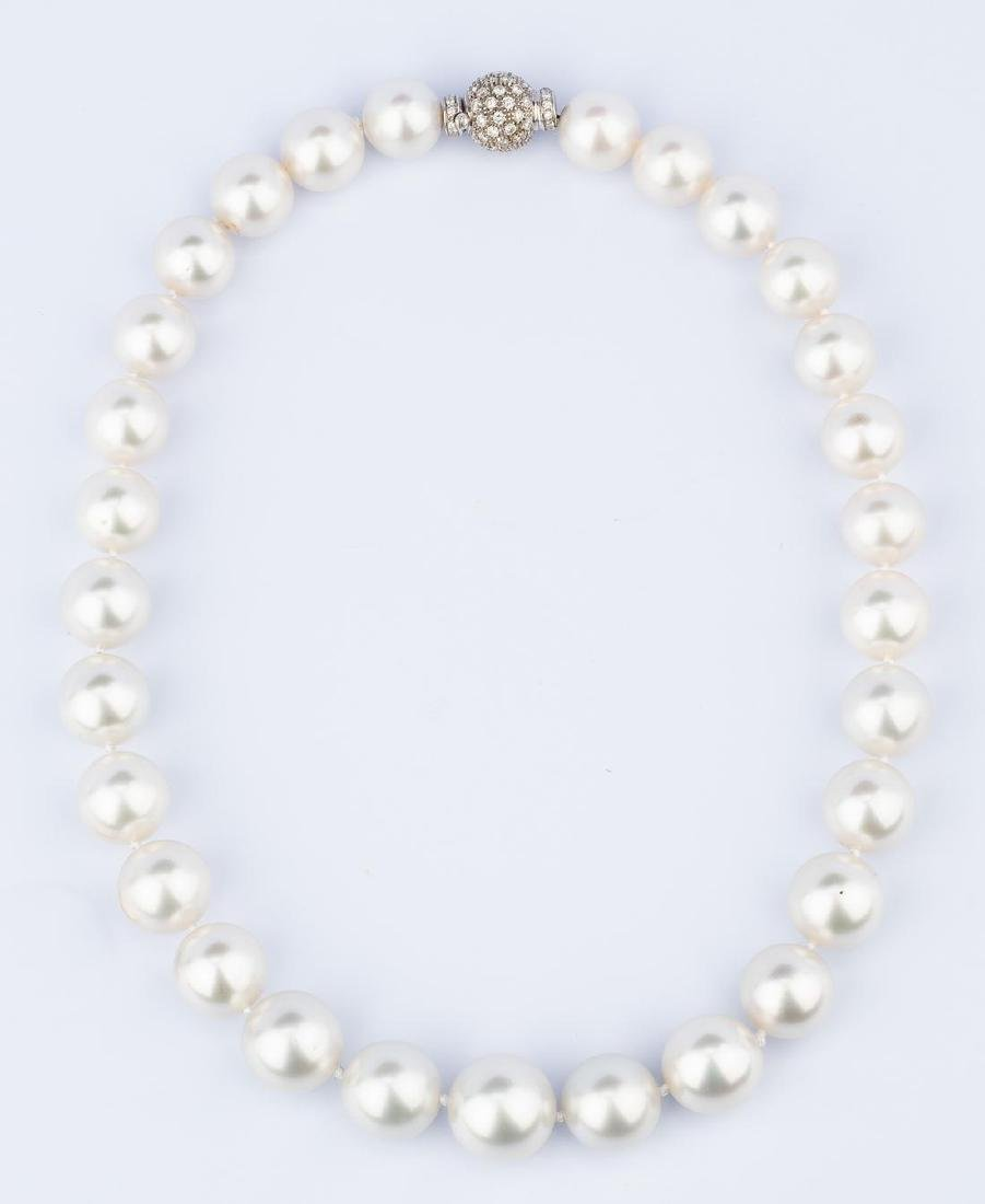 South Sea Pearl Necklace, 13.1-16.6mm