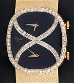 Chopard 18k Dia Dual Time Zone Watch