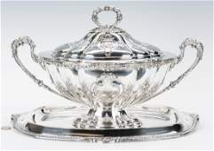Edwardian Sterling Covered Tureen with s/p underplate