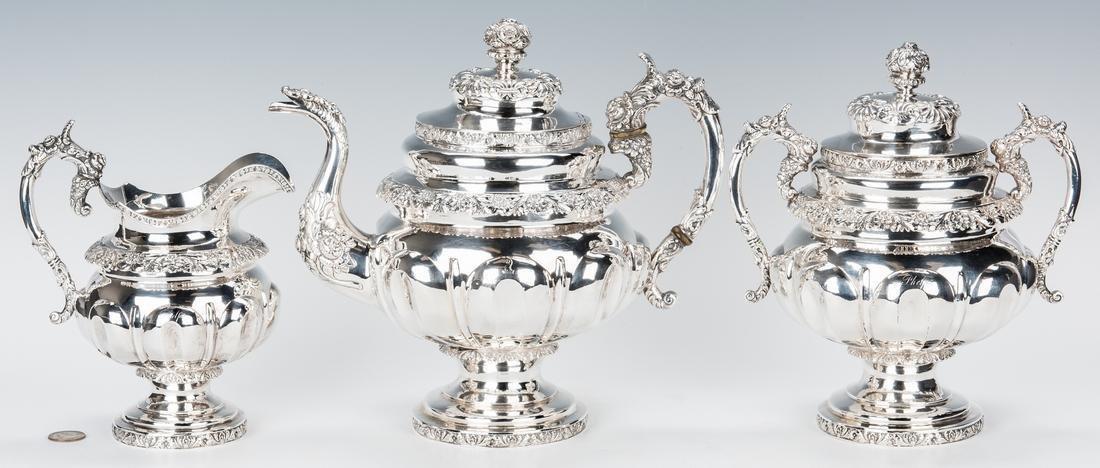 New York Coin Silver Tea Set