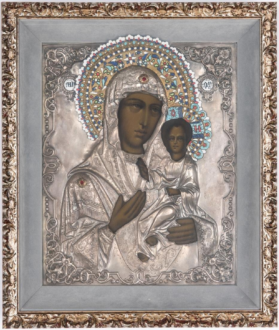Russian Eastern Orthodox Icon, Virgin & Child