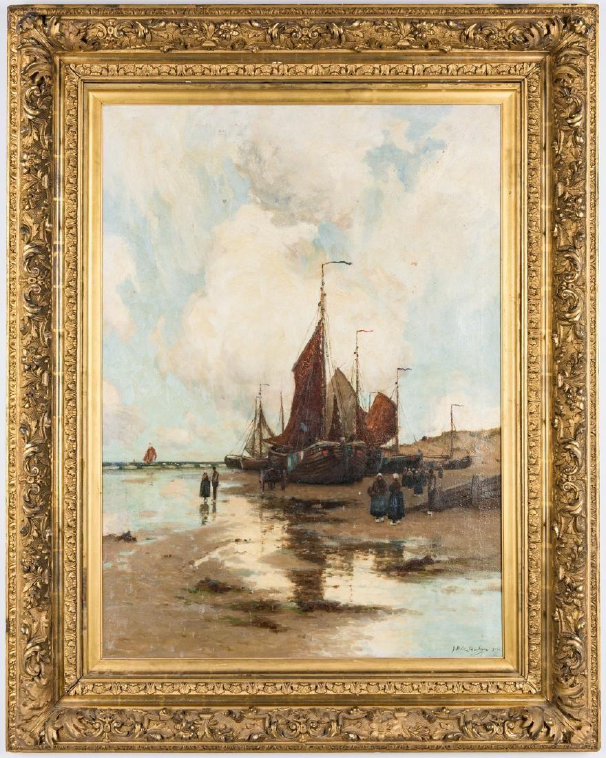 John Noble Barlow Coastal Landscape Oil on Canvas