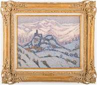 Jacques Martin Ferrieres OC Abbruzzes Snow Scene