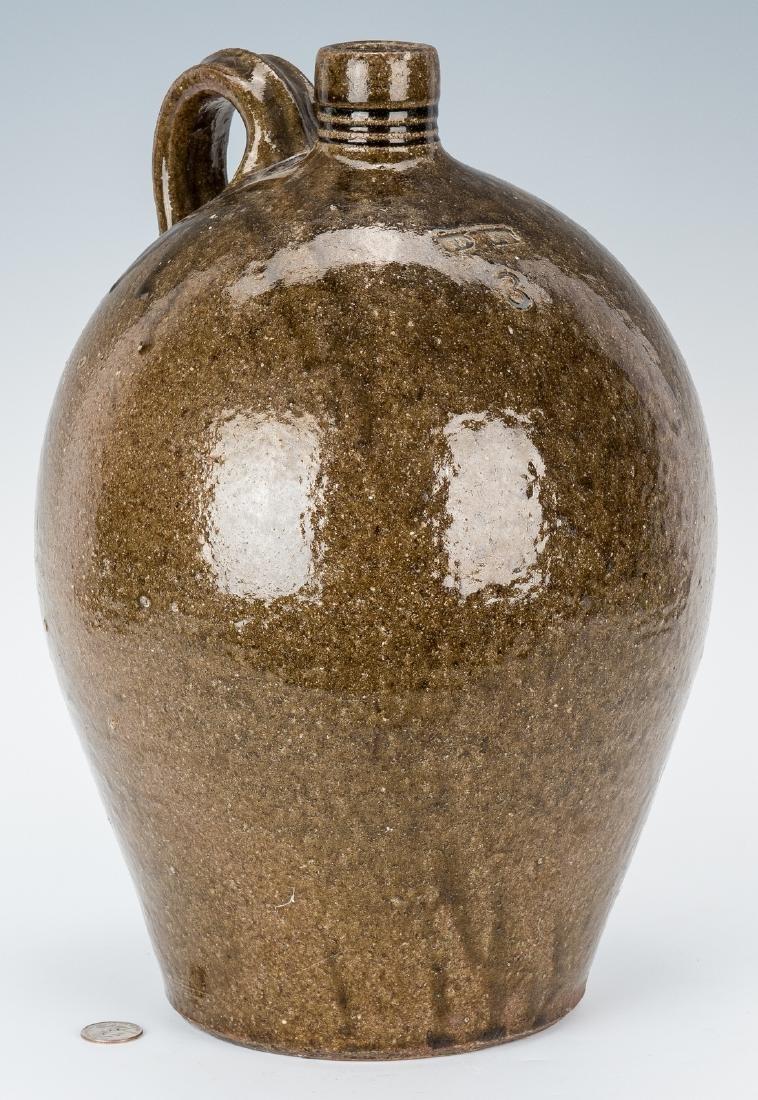 NC Stamped Daniel Seagle Pottery Jug, 3 Gallon