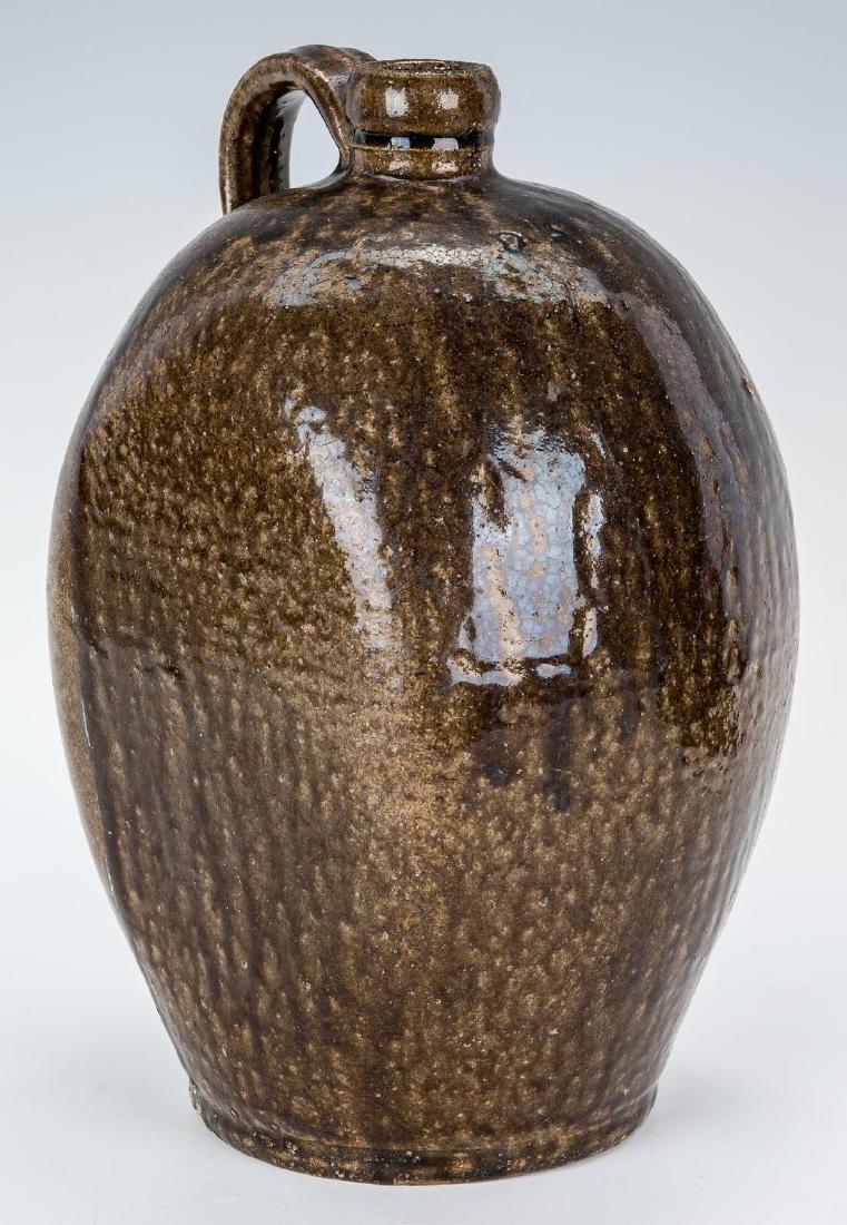 NC Stamped Daniel Seagle Pottery Jug, One Gallon