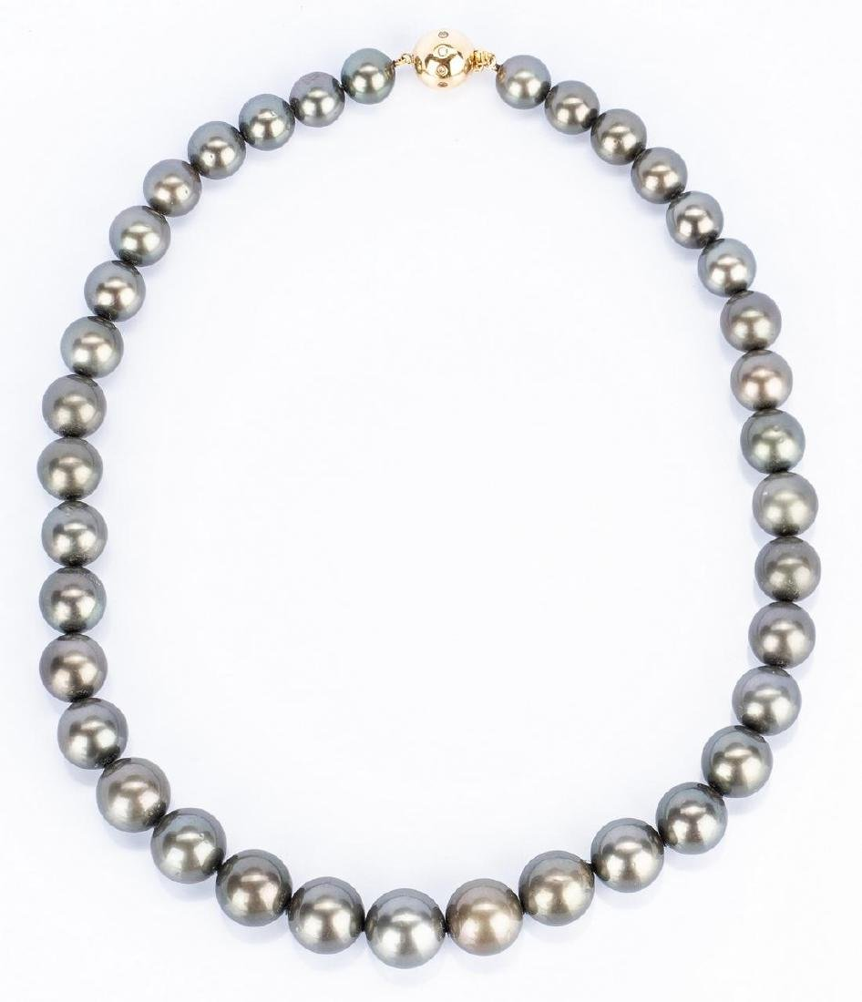 Grey Tahitian Cultured Pearl Necklace