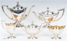 4Piece Gorham Plymouth Tea Set Jennings Coffee Pot 5