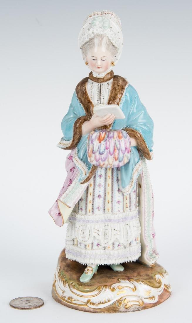 German Meissen Porcelain Figure of a Lady